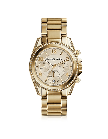 Michael Kors - Blair Gold Tone Stainless Steel Women's Watch