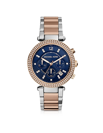 Michael Kors - Parker Two Tone Stainless Steel Women's Watch