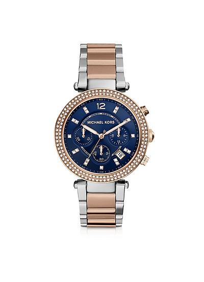 Parker Two Tone Stainless Steel Women's Watch - Michael Kors