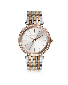 Darci Three Tone Stainless Steel Women's Watch - Michael Kors