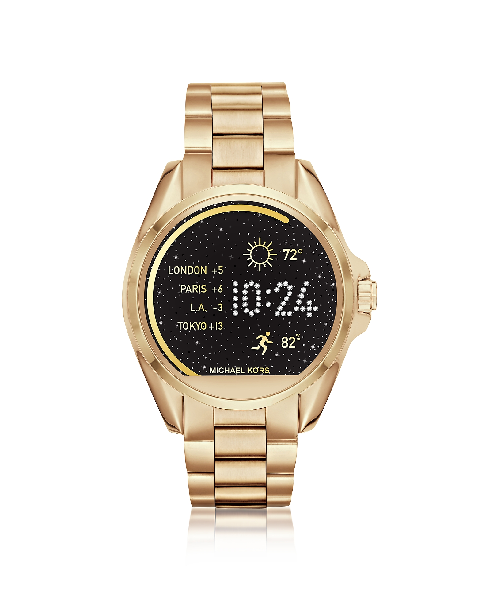 Michael Kors Women's Watches, Gold-tone Stainlees Steel Bradshaw Women's Smartwatch