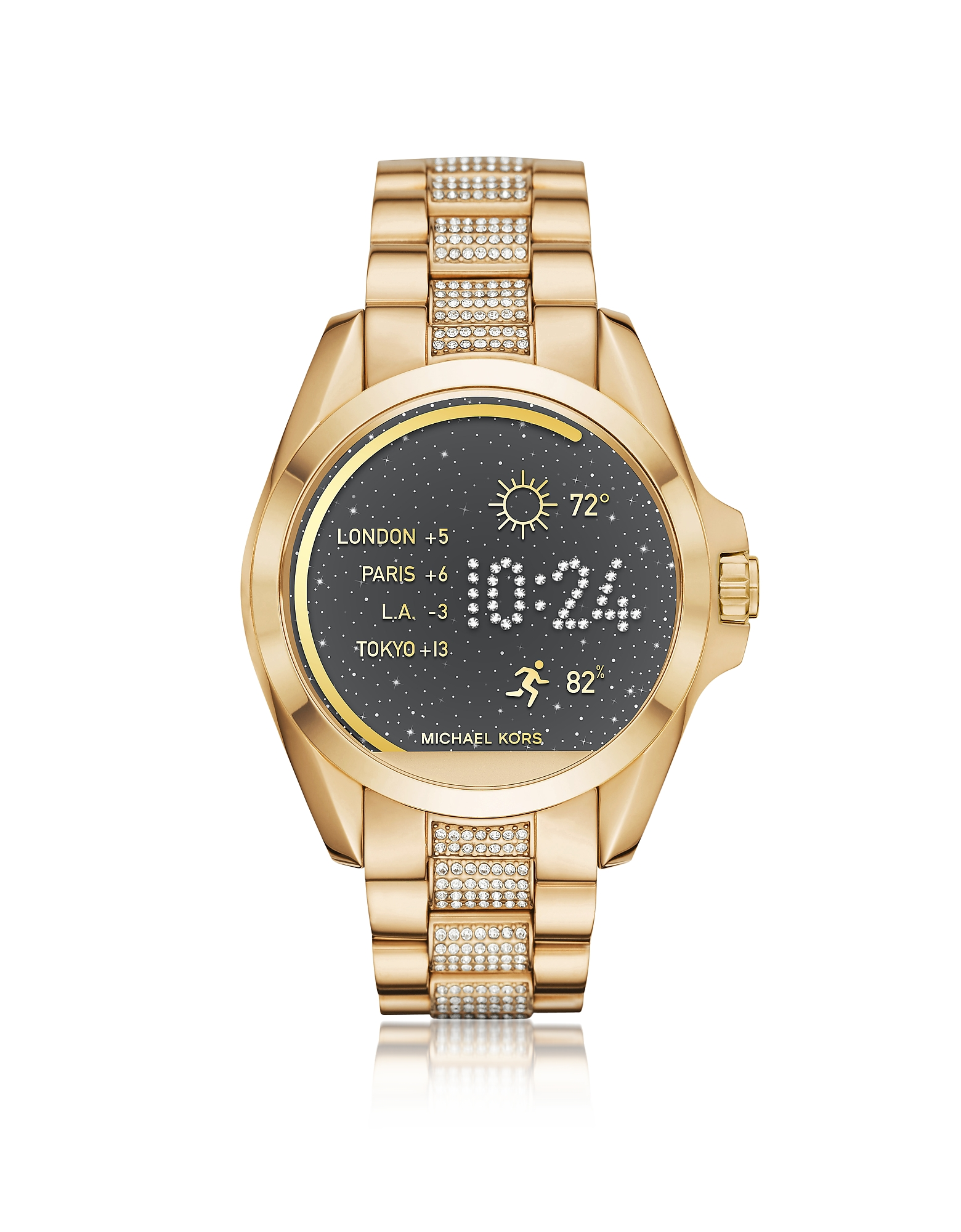 Michael Kors Women's Watches, Gold-tone PVD Stainless Steel Bradshaw Women's Smartwatch