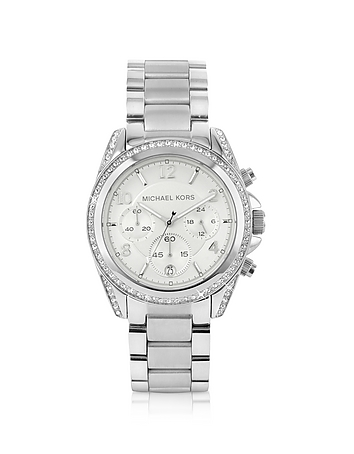Michael Kors - Silver Runway Watch with Glitz