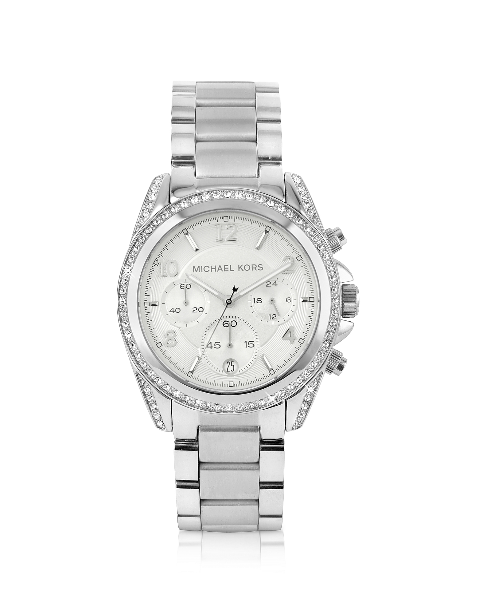 Michael Kors Women's Watches, Silver Runway Watch with Glitz