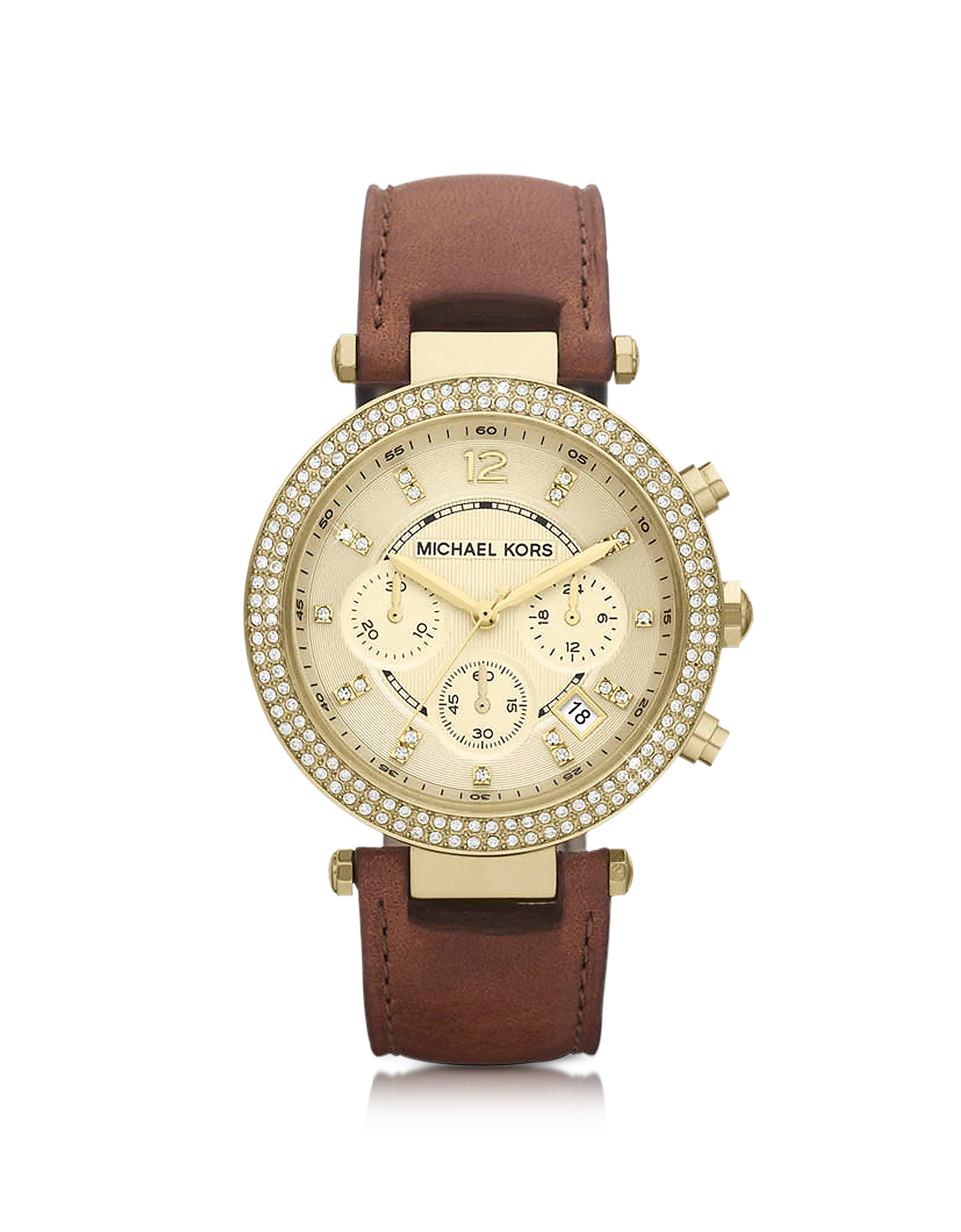 Michael Kors Women's Watches, Mid-Size Parker Chronograph Glitz Watch