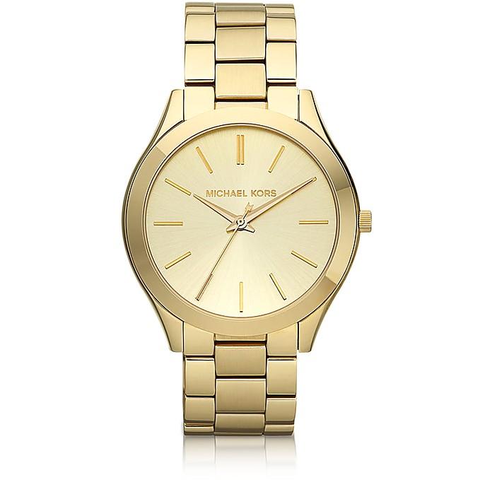 Runway Slim Gold Tone Watch - Michael Kors