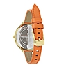 Slim Runway Orange Leather Strap Women's Watch - Michael Kors