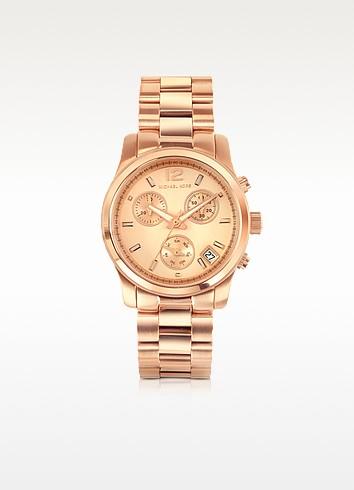 Runway Rose Gold Plated Stainless Steel Bracelet Women's Watch - Michael Kors