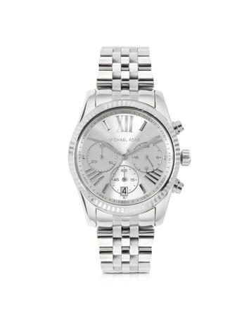michael kors female 45900 lexington stainless steel womens chronograph watch