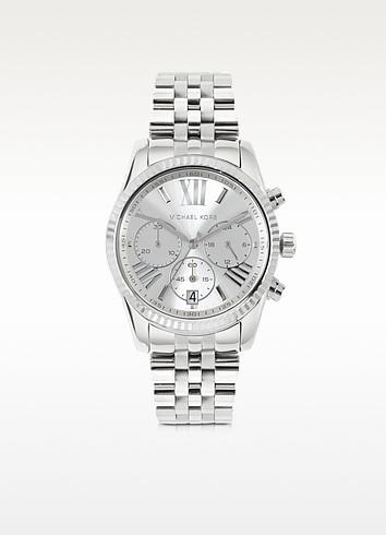 Lexington Stainless Steel Women's Chronograph Watch - Michael Kors