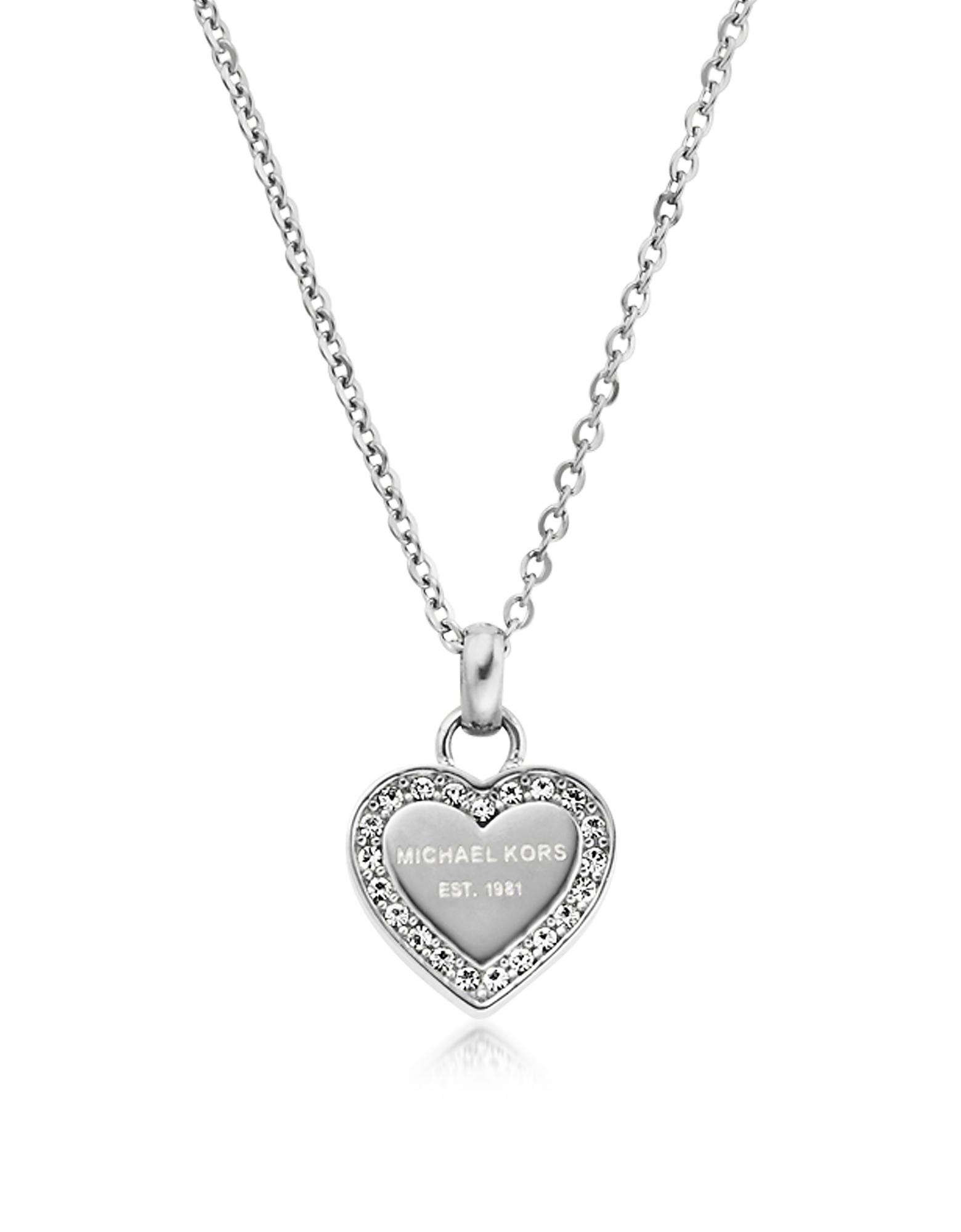 Фото Heritage - Ожерелье из Нержавеющей Стали с Кулоном Сердцем и Кристаллами. Купить с доставкой