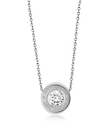 Brilliance Stainless Steel and Crystal Necklace - Michael Kors