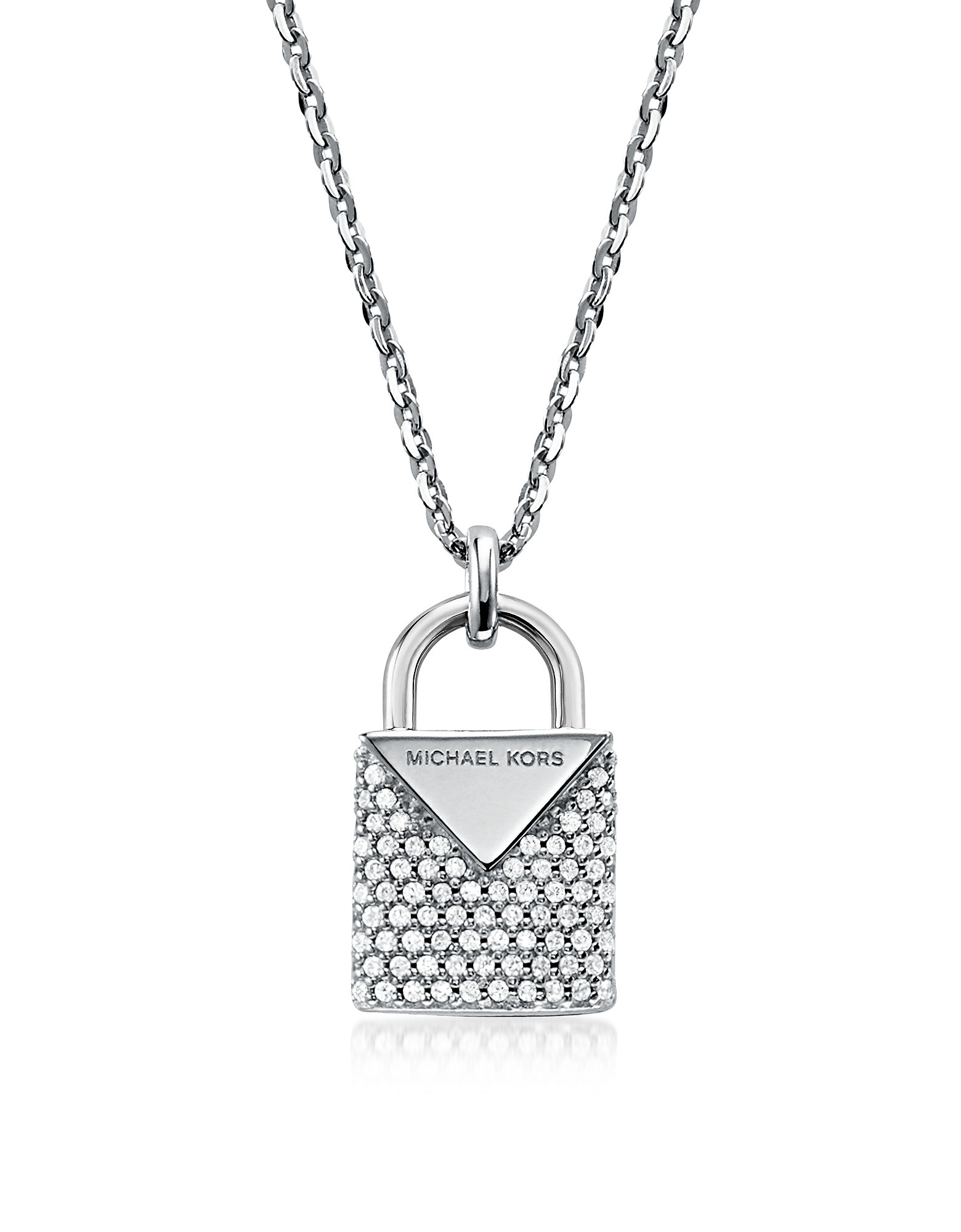Kors Pavé Rhodium Women's Necklace
