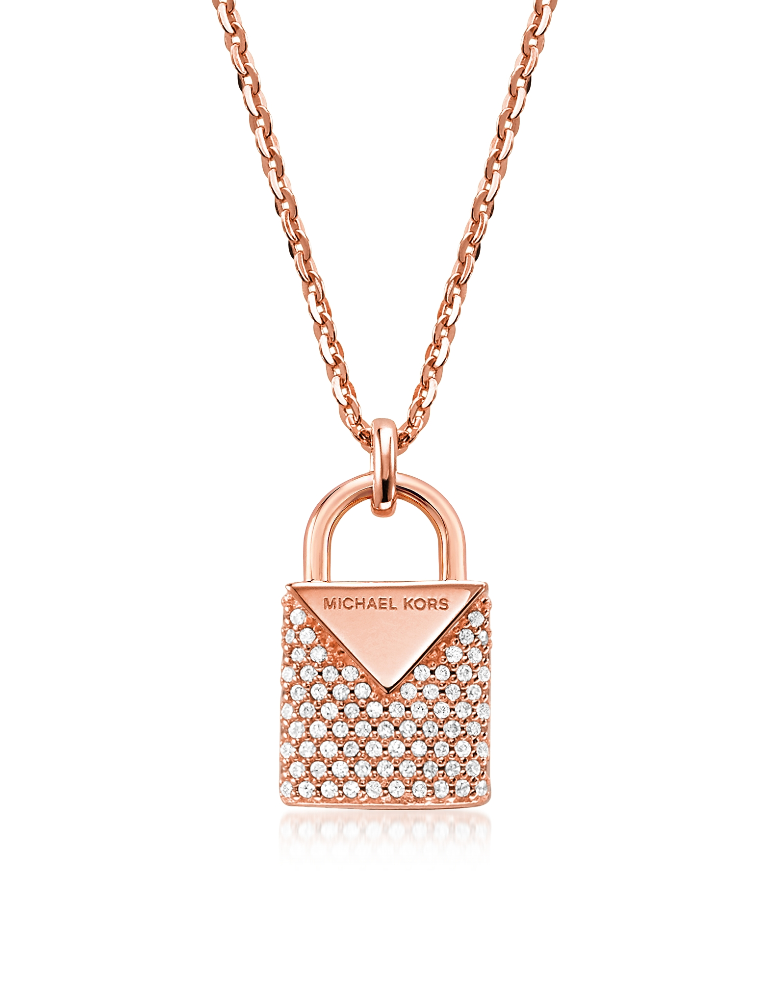 Kors Pavé Lock Women's Necklace