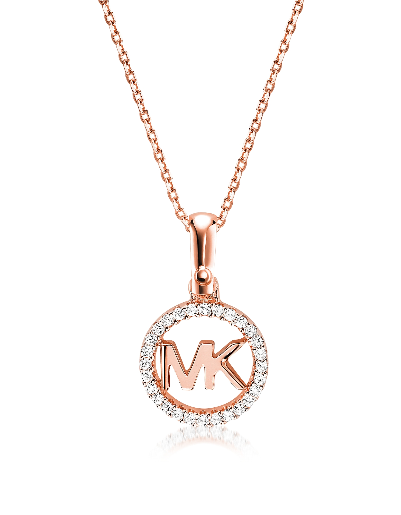 Kors Custom Rose Gold Logo Women's Necklace