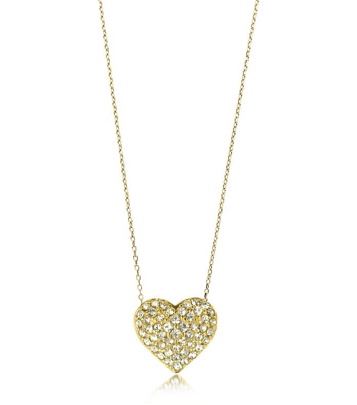 Crystal Heart Charm Women's Necklace - Michael Kors