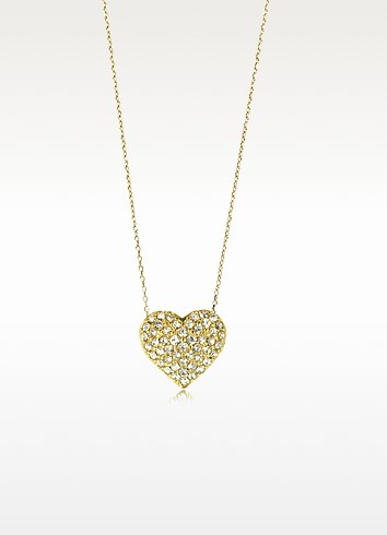 Crystal Heart Charm Women's Necklace - Michael Kors