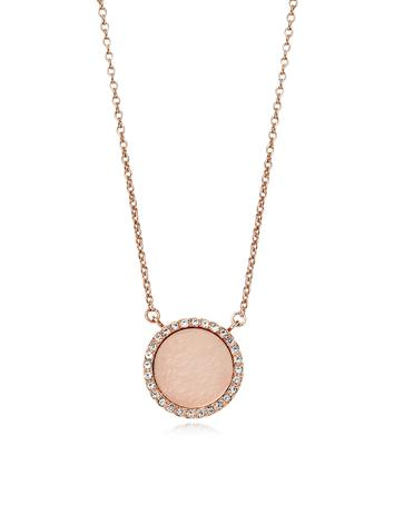 michael kors female 243279 heritage rose gold pvd charm necklace