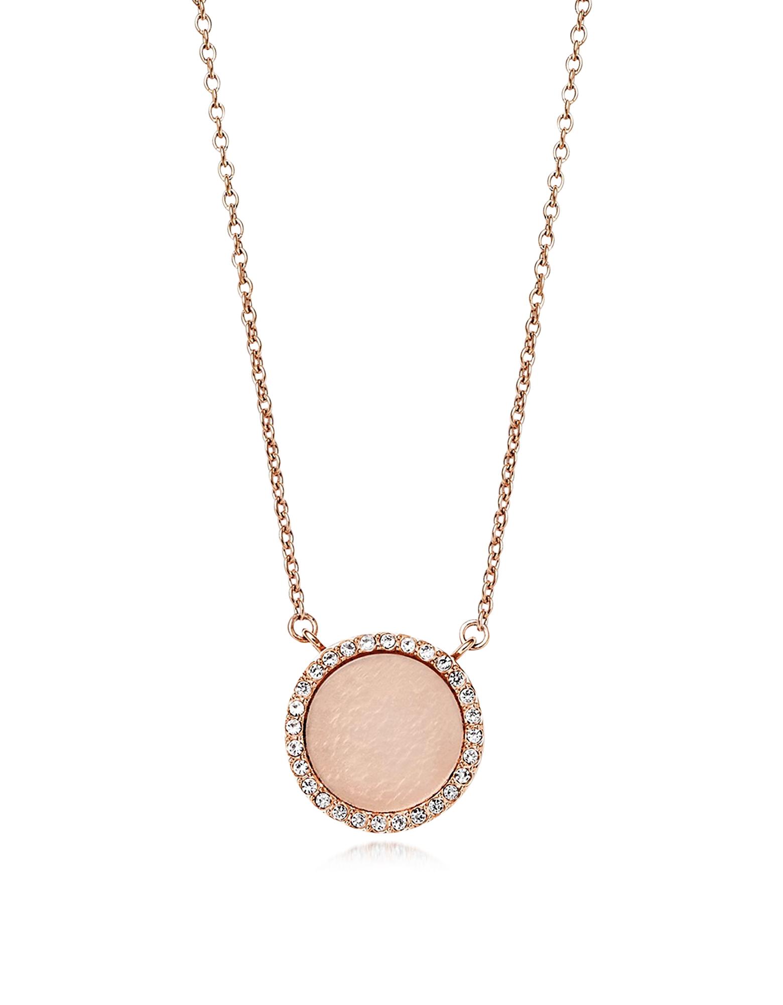 Heritage - Ожерелье с Напылением Розового Золота и Чармом