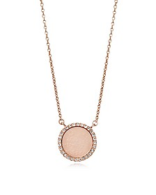 Heritage Rose Gold PVD Charm Necklace - Michael Kors