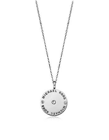 Michael Kors - Heritage Signature Charm w/Crystal Necklace