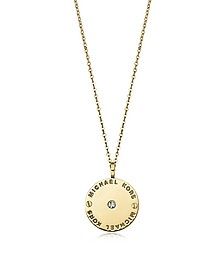Heritage Signature Charm w/Crystal Necklace - Michael Kors