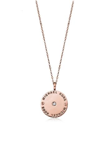 michael kors female  heritage signature charm wcrystal necklace
