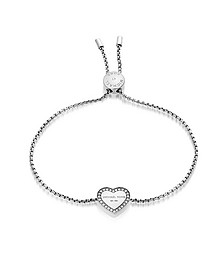Heritage Stainless Heart Bracelet w/Crystals - Michael Kors