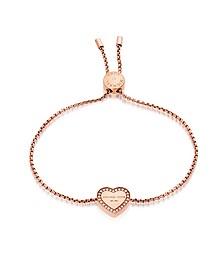Heritage PVD Rose Goldtone Stainless Heart Bracelet w/Crystals - Michael Kors