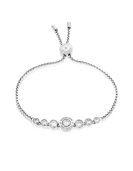 Michael Kors Brilliance - Bracelet en Acier Inoxydable Argent avec Cristaux