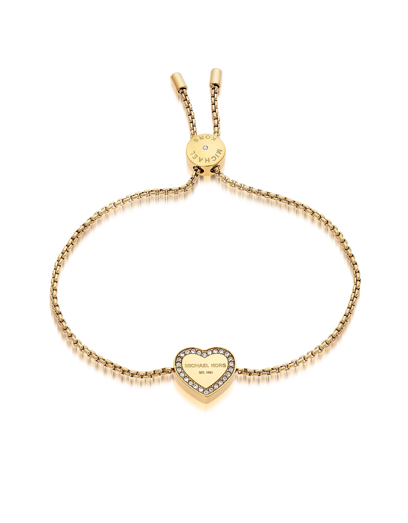 Heritage - Золотистый Бреслет с Сердцем и Кристаллами
