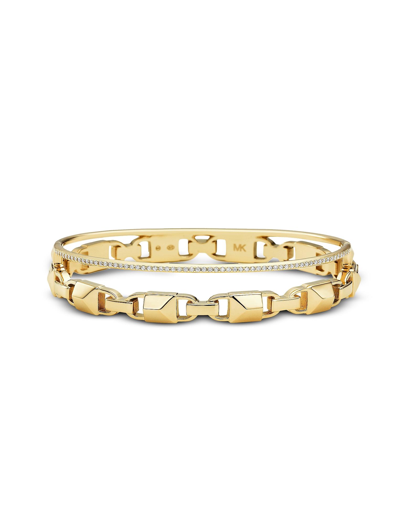 Michael Kors  Bracelets Gold Mercer Link Pavé Halo Women's Bracelet