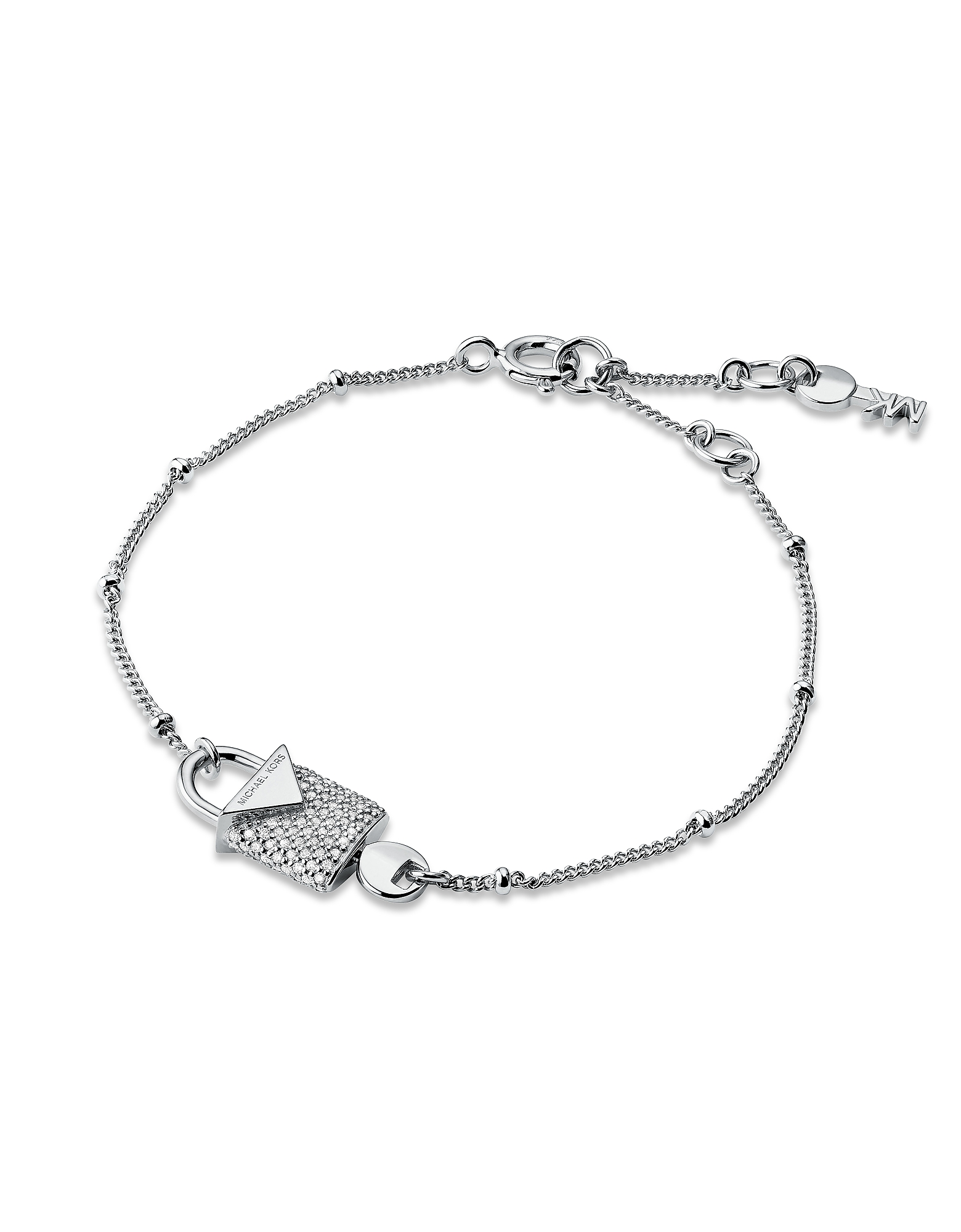 Kors Silver Pavé Lock Women's Bracelet