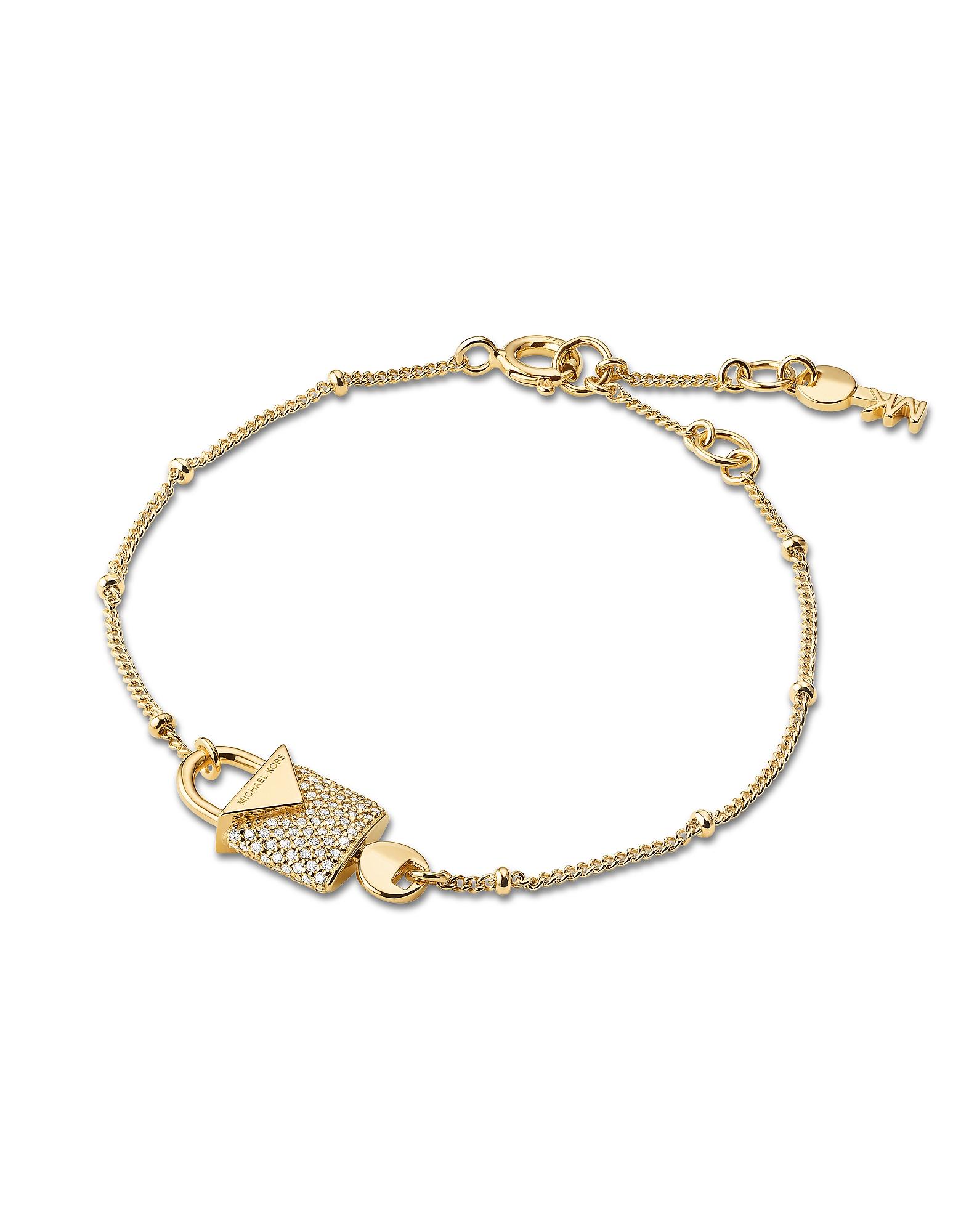 Kors Gold Pavé Lock Women's Bracelet
