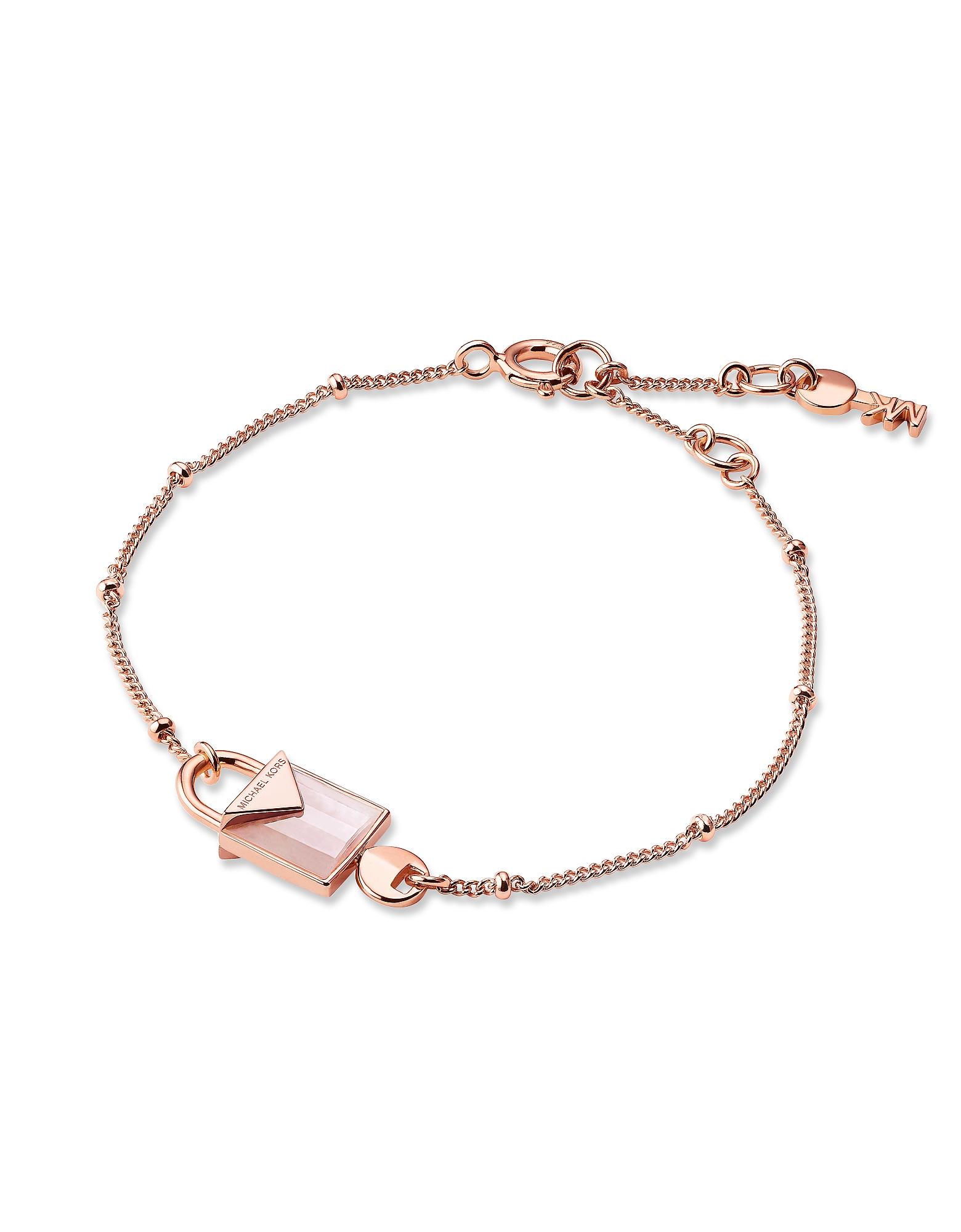 Mercer 14K Rose Gold Plated Sterling Silver Lock Bracelet