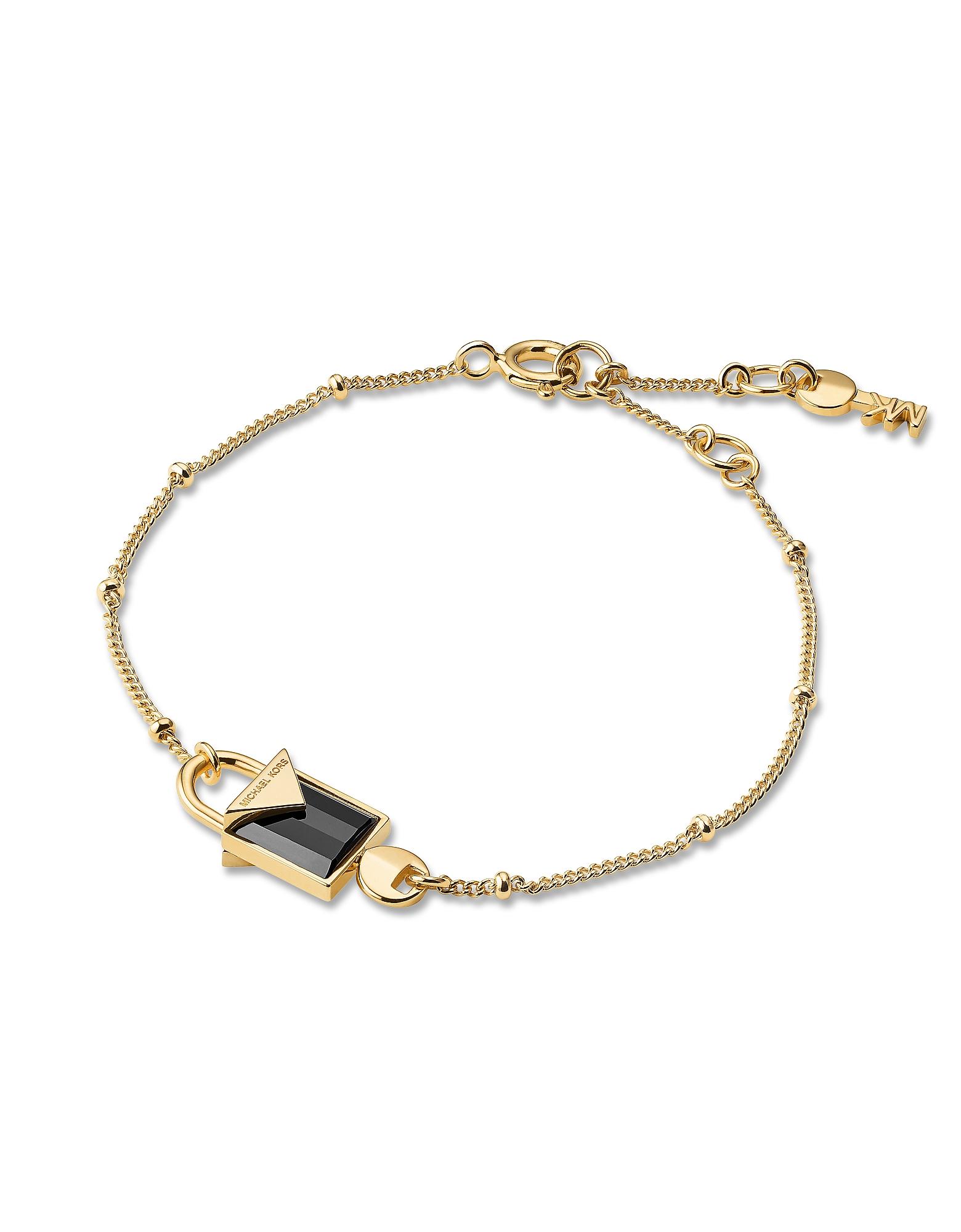 Mercer 14K Gold Plated Sterling Silver Lock Bracelet