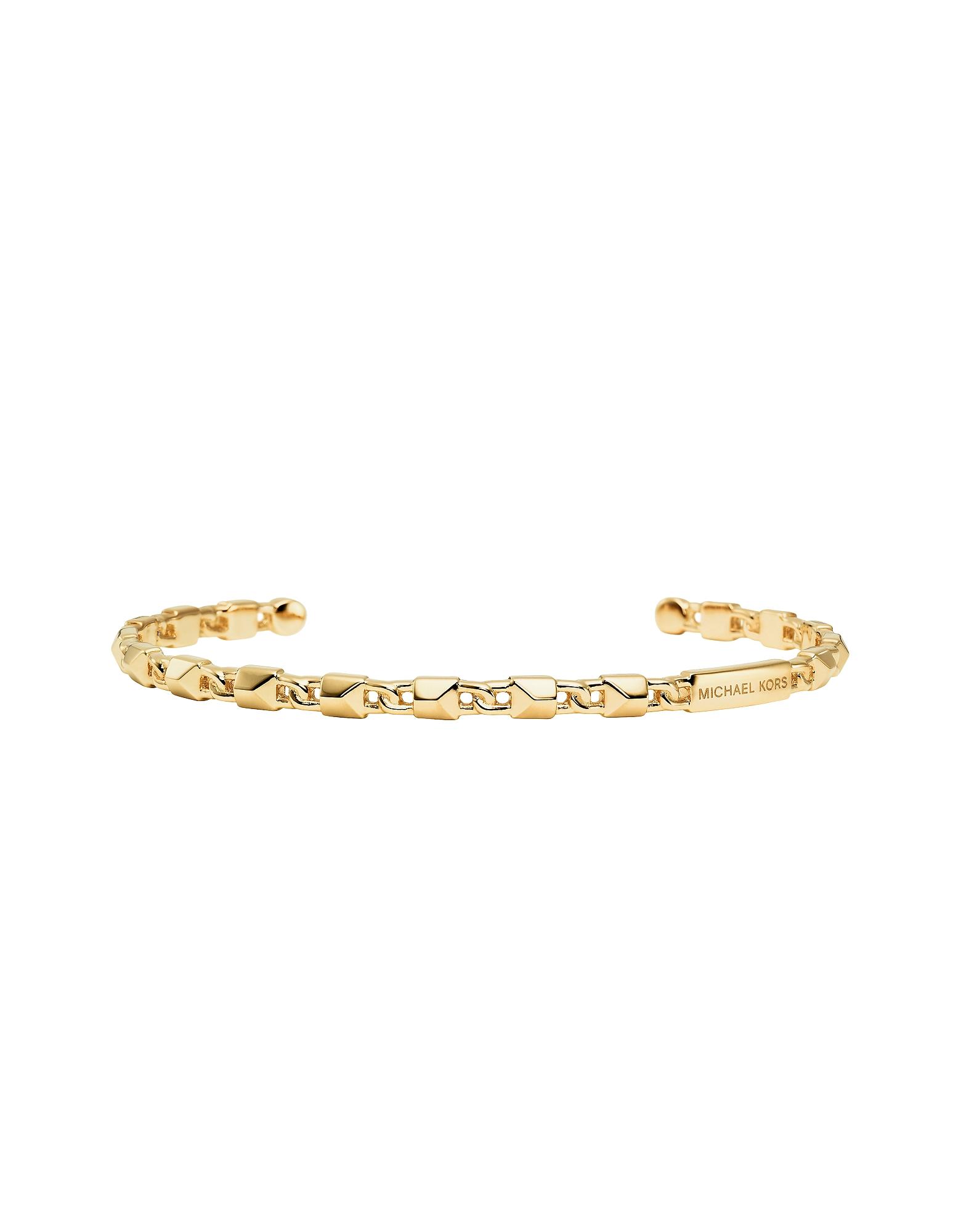 Mercer Link 14K Gold Plated Cuff Women's Bracelet
