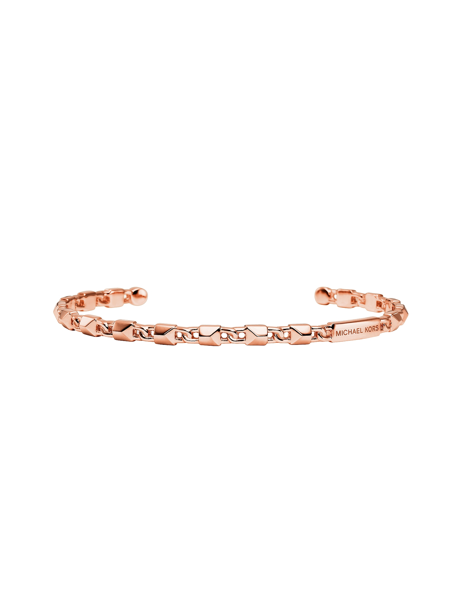Mercer Link 14K Rose Gold Plated Sterling Silver Cuff