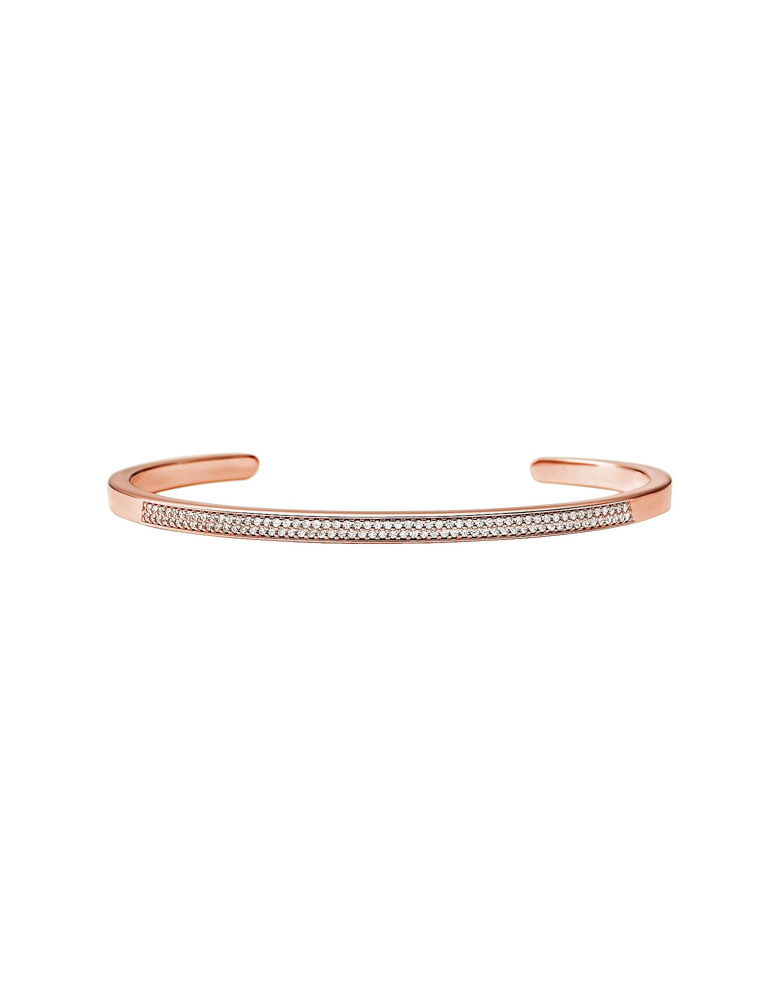 Rose Gold Pavé Nesting Cuff Bracelet