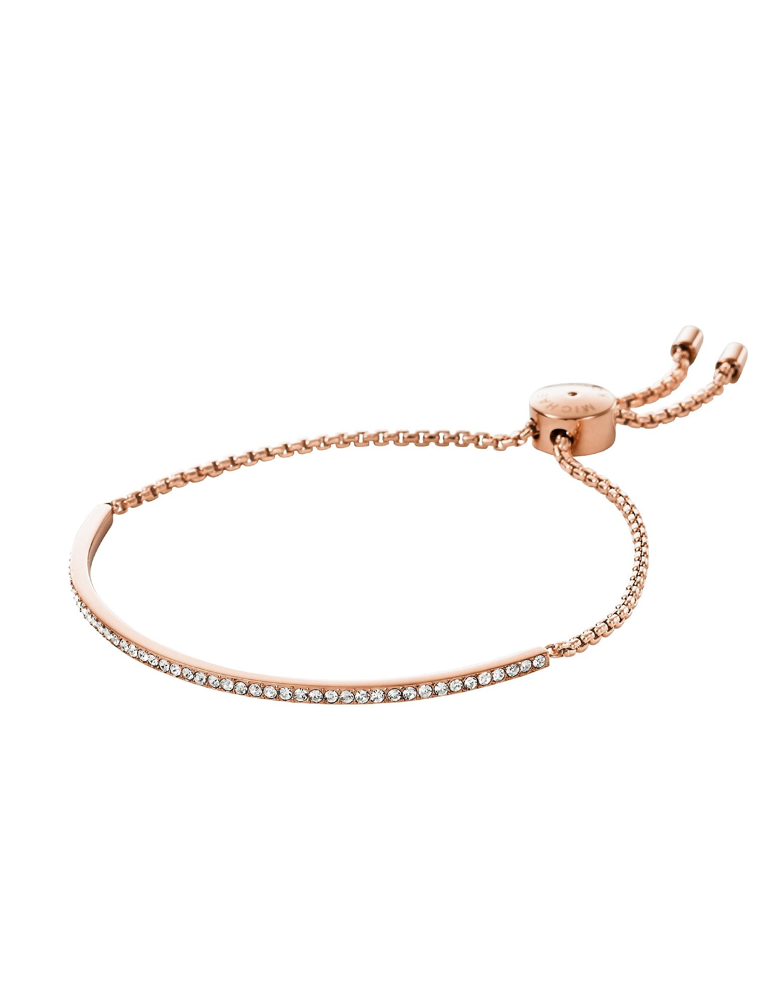 Brilliance - Браслет из Металла Оттенка Розового Золота с Кристаллами