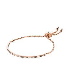 Brilliance Rose Gold Tone Metal Bracelet w/Crystals - Michael Kors