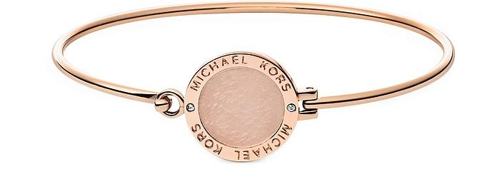 Heritage Rose Gold-tone Logo Bangle - Michael Kors