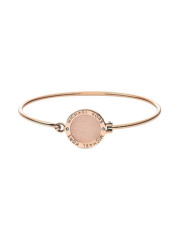 Michael Kors - Heritage Rose Gold-tone Logo Bangle