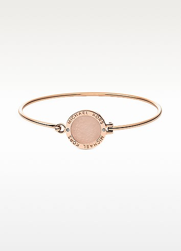 Heritage Rose Gold-tone Logo Bangle - Michael Kors