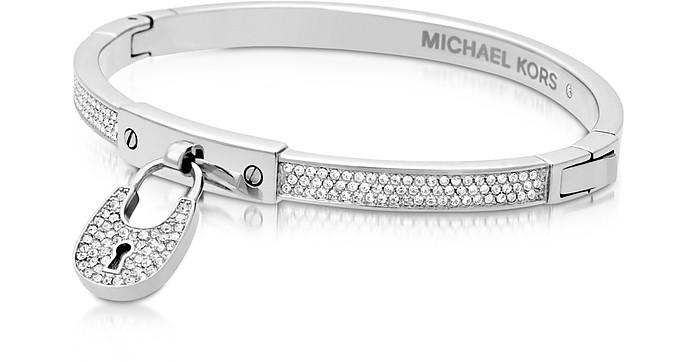 Chains & Elements Metal Bangle w/Crystals - Michael Kors