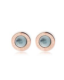 Logo PVD Rose Goldtone Stainless Steel Stud Earrings - Michael Kors