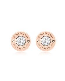 Iconic Ohrringe aus Edelstahl mit Kristallen - Michael Kors