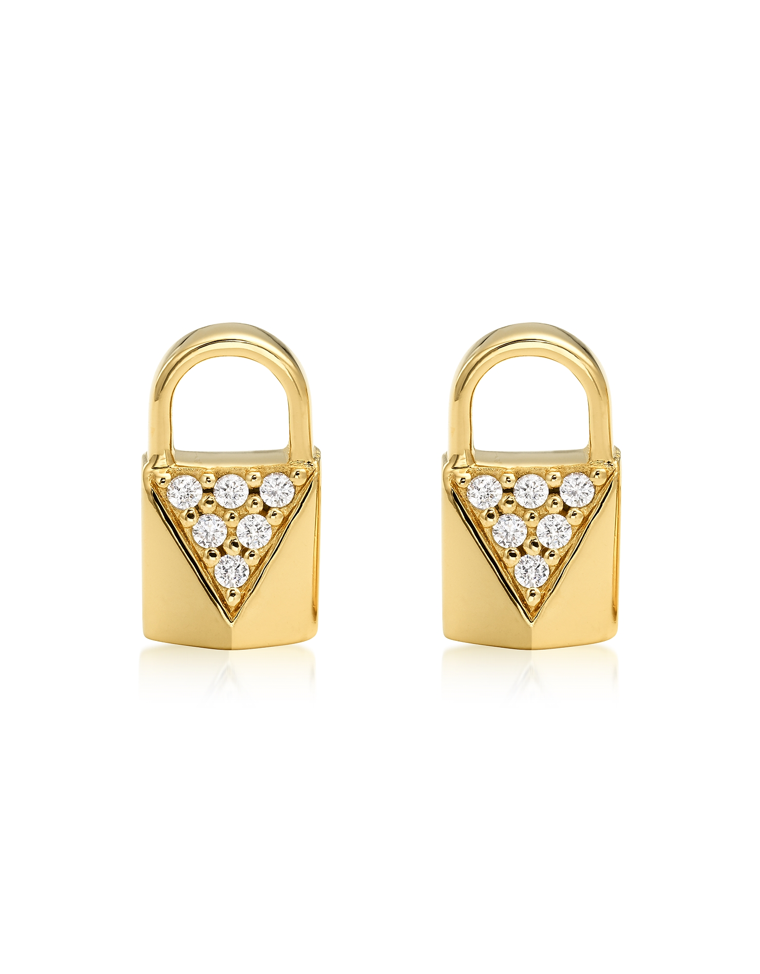 Mercer Lock 14K Gold Plated Sterling Silver Pavé Studs
