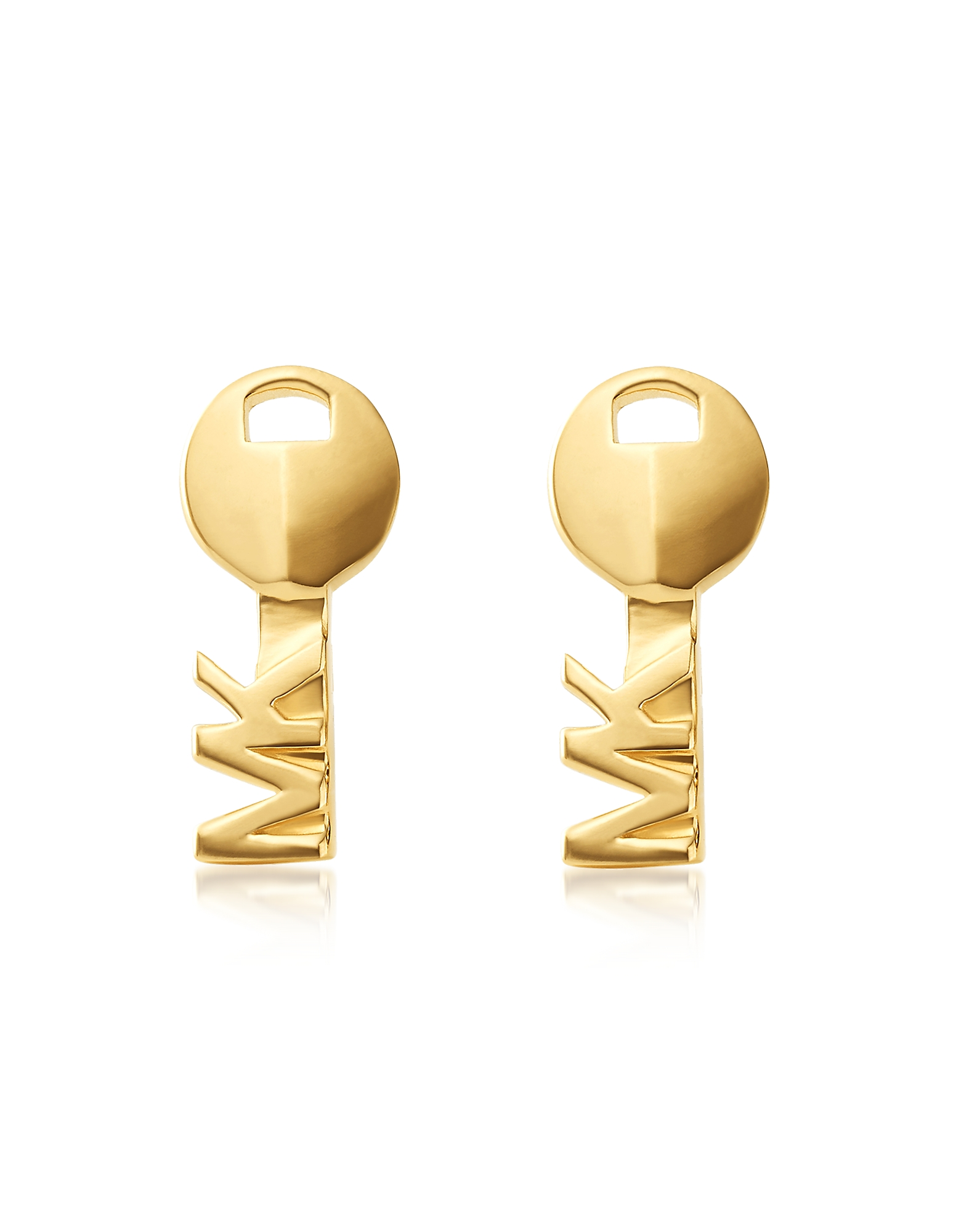 Key 14K Gold Plated Sterling Silver Studs