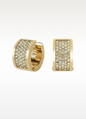 Pave Crystal Hug Earrings - Michael Kors